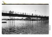 Southport Pier Across The Marine Lake Bw Carry-all Pouch