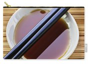 Soy Sauce With Chopsticks Carry-all Pouch by Elena Elisseeva
