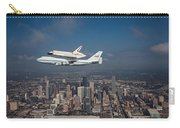 Space Shuttle Endeavour Over Houston Texas Carry-all Pouch