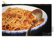 Spaghetti And Meat Sauce With Spoon Carry-all Pouch