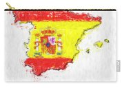 Spain Painted Flag Map Carry-all Pouch
