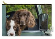 Spaniels In Car Carry-all Pouch