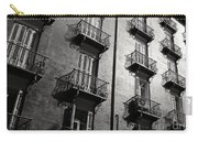Spanish Balconies - Black And White Carry-all Pouch
