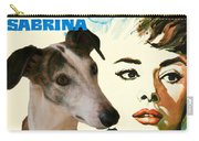 Spanish Galgo Art - Sabrina Movie Poster Carry-all Pouch