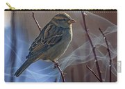 Sparrow In A Weave Carry-all Pouch
