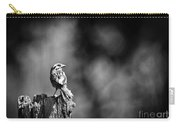 Sparrow In Black And White Carry-all Pouch