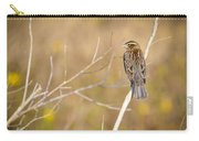 Sparrow In Marshland Carry-all Pouch by Carolyn Marshall