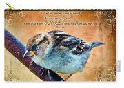 Sparrow With Verse And Painted Effect Carry-all Pouch
