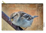 Sparrow With Verse Carry-all Pouch