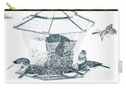 Sparrows In Charcoal Carry-all Pouch