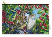 Sparrows On The Hawthorn Carry-all Pouch