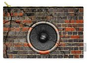 Speaker On A Cracked Brick Wall Carry-all Pouch