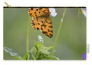 Speckled Yellow Moth On Pansy Wild Flower Carry-all Pouch