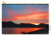 Spectacular Sunset On The Lake. Yellowstone. Carry-all Pouch
