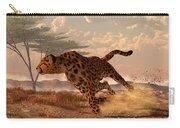 Speeding Cheetah Carry-all Pouch by Daniel Eskridge