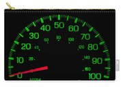 Speedometer On Black Isolated Carry-all Pouch