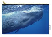 Sperm Whale With Remoras Dominica Carry-all Pouch