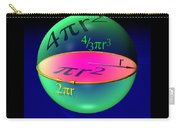 Sphere Equations Maths Poster Black Carry-all Pouch