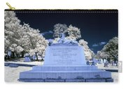 Sphinx Profile Near Infrared Blue And White Carry-all Pouch