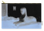 Sphinx Statue Three Quarter Profile Blue Glow Usa Carry-all Pouch