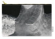 Sphinx Statue Three Quarter Profile Bw Glow Usa Carry-all Pouch