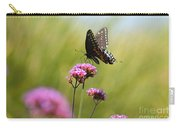Spicebush Swallowtail Butterfly In Meadow Carry-all Pouch