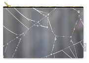 Spider Web In Rain Carry-all Pouch