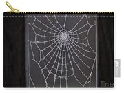 Spider Web With Frost Carry-all Pouch