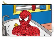 Spiderman  Carry-all Pouch by Mark Ashkenazi