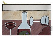 Essence Of Home - Spilt Glass Of Wine Carry-all Pouch