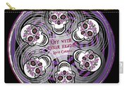 Spinning Celtic Skulls In Purple Carry-all Pouch
