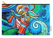 Spiral Bird Lady Carry-all Pouch by Genevieve Esson