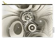 Spiral Mania 2 - Black And White Carry-all Pouch