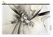 Spiral Mania 4 - Black And White Carry-all Pouch