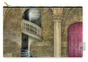Spiral Stairway And Red Door Carry-all Pouch