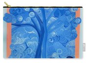 Spiral Tree Winter Blue Carry-all Pouch