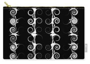Spirals And Swirls Black And White Pattern  Carry-all Pouch