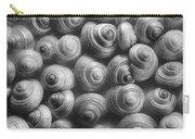 Spirals Black And White Carry-all Pouch by Priska Wettstein