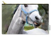 Spirited Grey Horse Carry-all Pouch