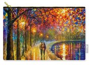 Spirits By The Lake - Palette Knife Oil Painting On Canvas By Leonid Afremov Carry-all Pouch