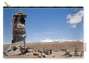 Spiritual Cairn In The Peruvian Altiplano Carry-all Pouch