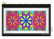 Spirituality - Life Lights - Kaleidoscope - Triptych Carry-all Pouch