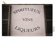 Spiritueux Vins Liqueurs Carry-all Pouch