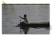 Splashing In The Water Caused Due To Kashmiri Man Rowing A Small Boat Carry-all Pouch