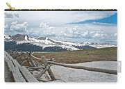 Split Rail Fence Near Alpine Visitor's Center In Rocky Mountain Np-co Carry-all Pouch
