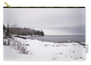 Split Rock Lighthouse Winter 7 Carry-all Pouch