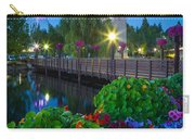 Spokane Clocktower By Night Carry-all Pouch by Inge Johnsson