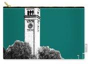 Spokane Skyline Clock Tower - Sea Green Carry-all Pouch