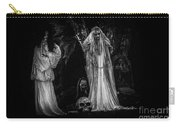 Spookie Ladies Vinette Black And White Carry-all Pouch