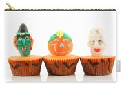 Spooks Cup Cakes On White Background Carry-all Pouch